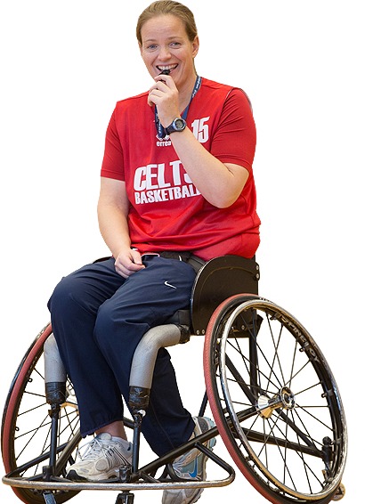 Wheelchair referee - Sport Wales